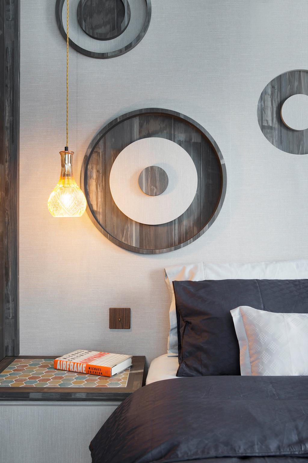 Contemporary, Condo, Bedroom, Q Bay Residences, Interior Designer, Prozfile Design, Light Fixture