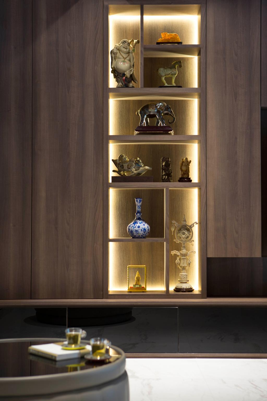 Modern, Landed, Living Room, Jalan Mutiara, Interior Designer, Prozfile Design, Contemporary, Trophy, Cabinet, China Cabinet, Furniture
