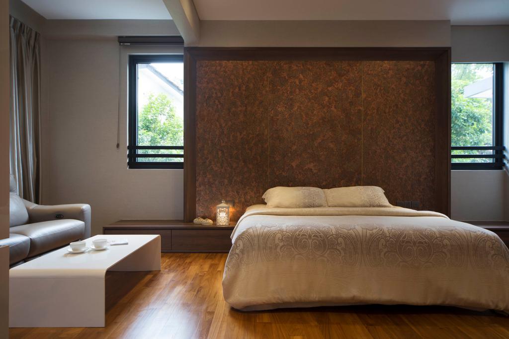 Modern, Landed, Bedroom, Jalan Mutiara, Interior Designer, Prozfile Design, Contemporary, Window, Bed, Furniture, Indoors, Interior Design, Room
