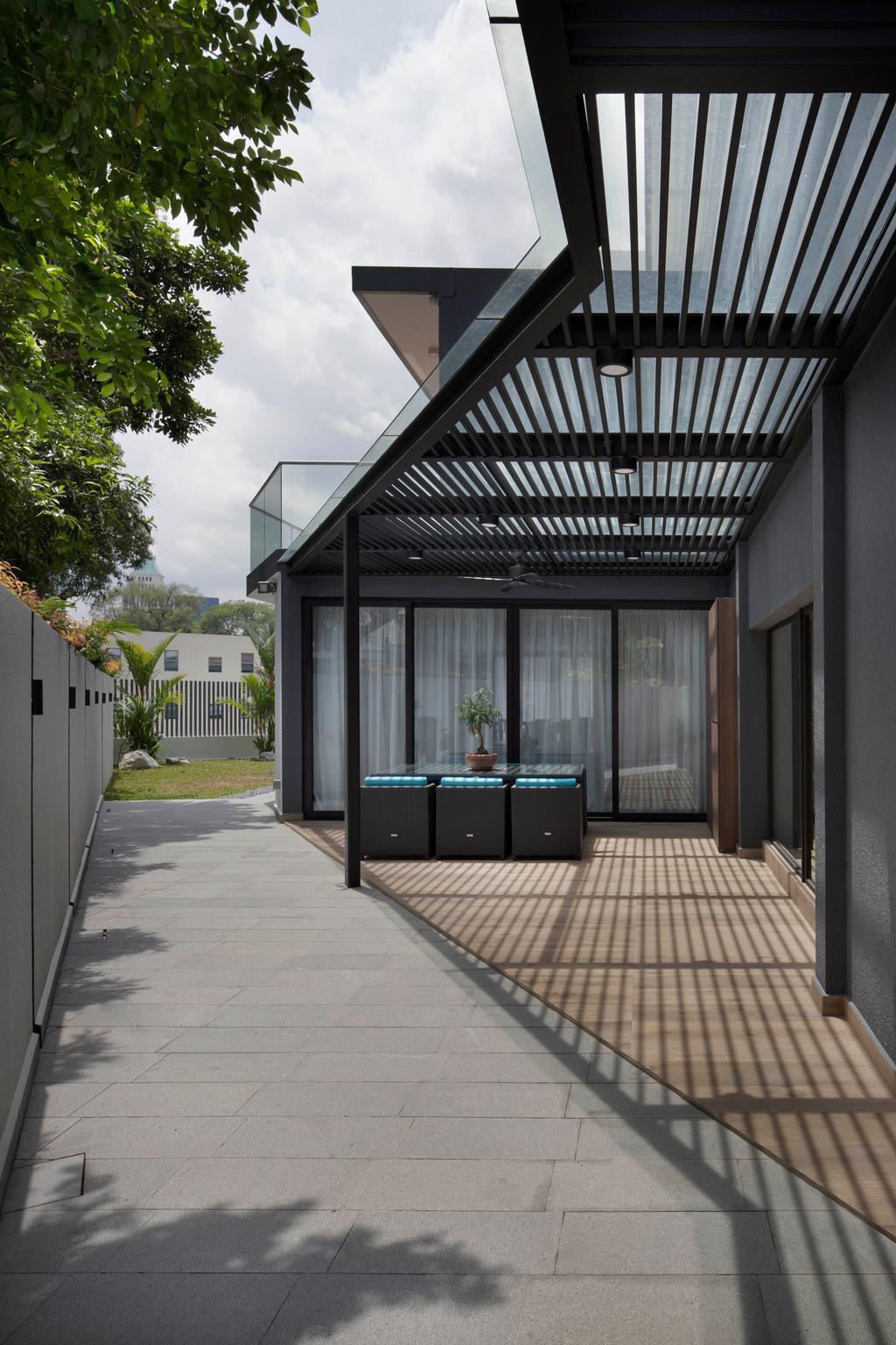 Modern, Landed, Jalan Mutiara, Interior Designer, Prozfile Design, Contemporary, Flora, Jar, Plant, Potted Plant, Pottery, Vase, Fence, Picket, Door, Folding Door