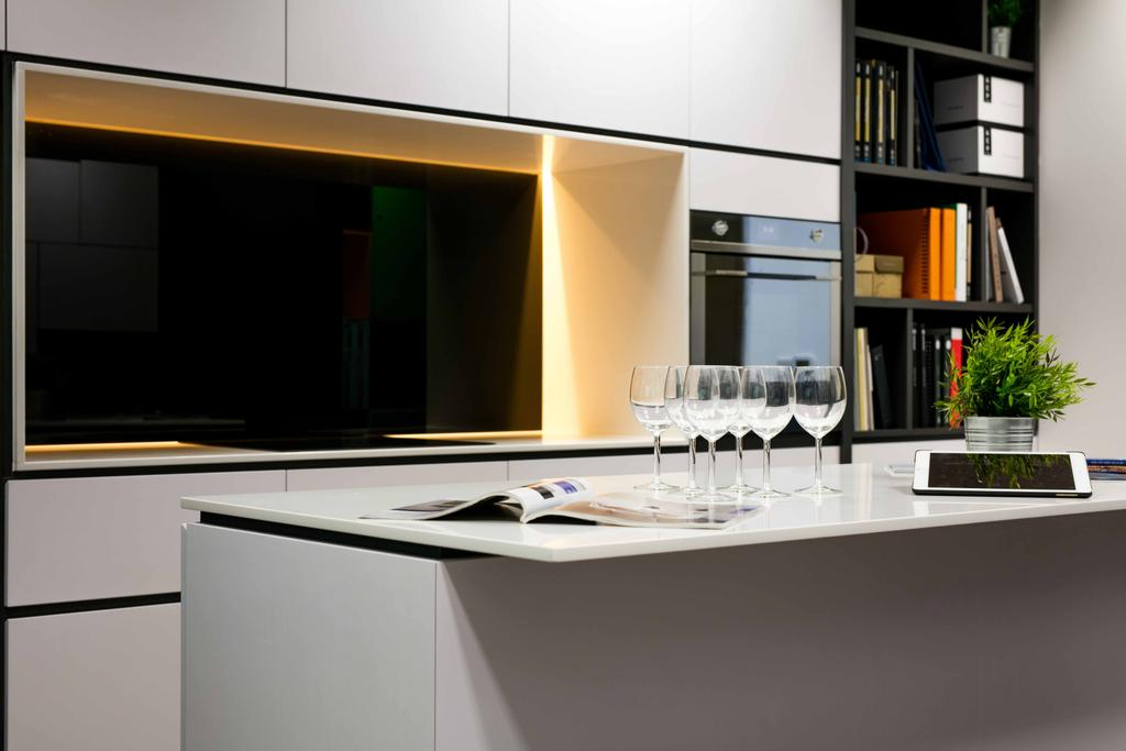 Schema Craft Interior Design Office, Commercial, Interior Designer, Schemacraft, Contemporary, Tv, Feature Wall, Island, Glasses, Oven, Shleving, Glass, Indoors, Interior Design, Kitchen, Room
