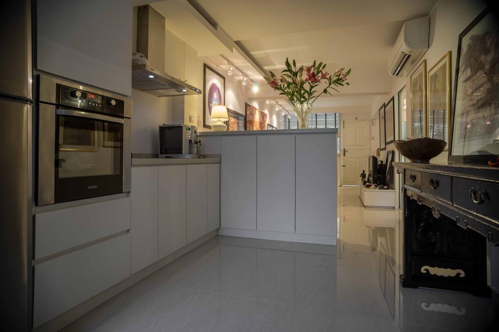 Contemporary, HDB, Kitchen, Holland Avenue, Interior Designer, Schemacraft, Appliance, Electrical Device, Oven, Indoors, Interior Design, Room