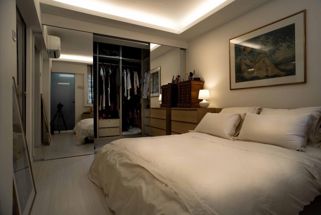 Contemporary, HDB, Bedroom, Holland Avenue, Interior Designer, Schemacraft, Cove Light, Bed, Wardrobe, Cupboard, Indoors, Room, Furniture, Art, Interior Design