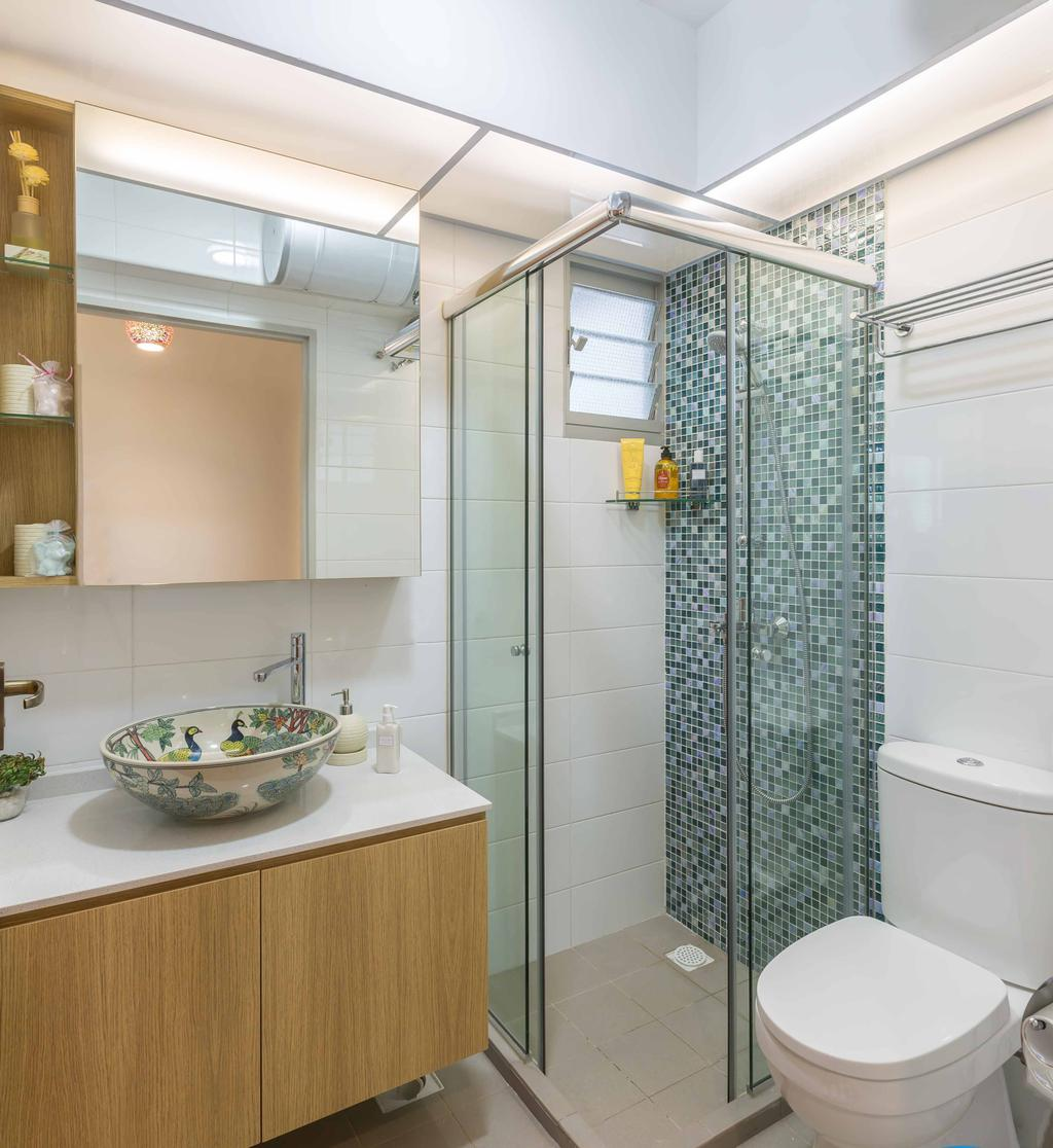 Modern, HDB, Jalan Tenteram, Interior Designer, DB Studio, Contemporary, Bowl, Bathroom, Indoors, Interior Design, Room
