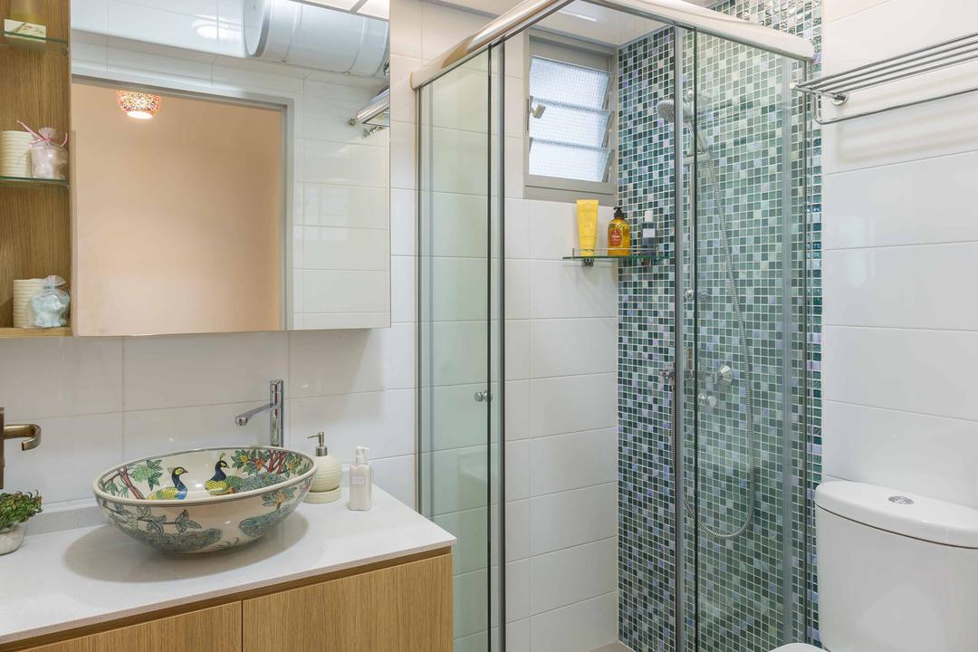 Jalan Tenteram, DB Studio, Modern, Contemporary, HDB, Bowl, Bathroom, Indoors, Interior Design, Room