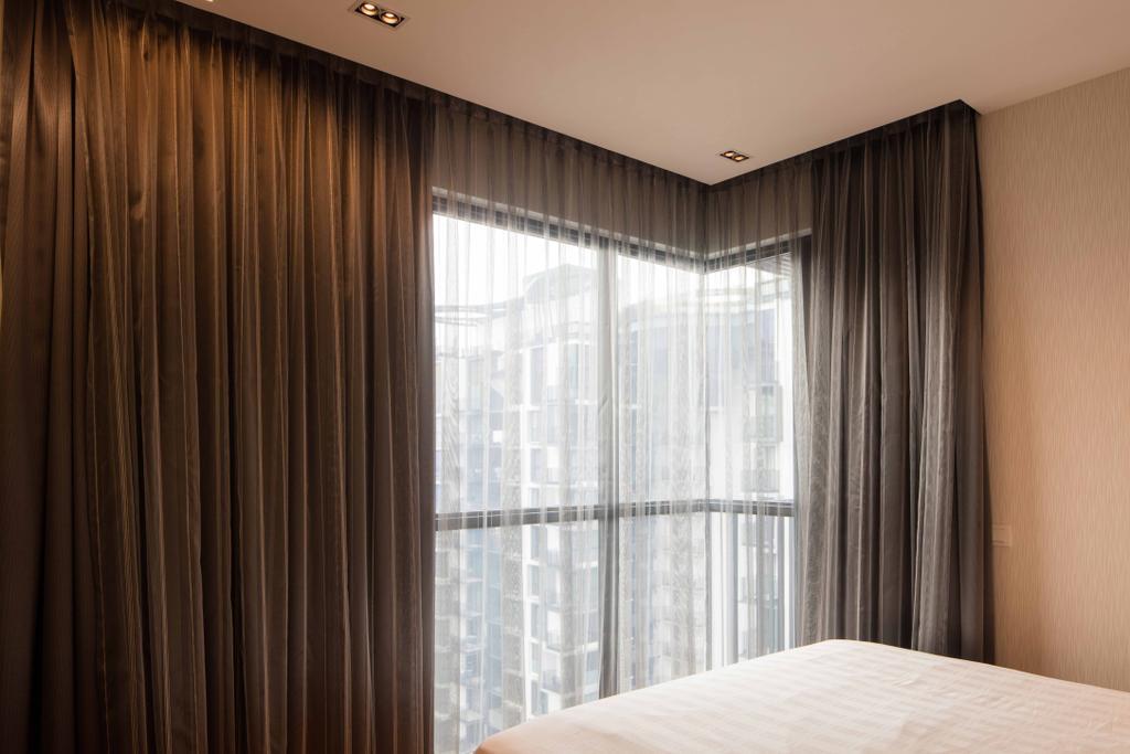 Scandinavian, Condo, Bedroom, Foresque Residences, Interior Designer, Schemacraft, Curtain, Down Light, Home Decor