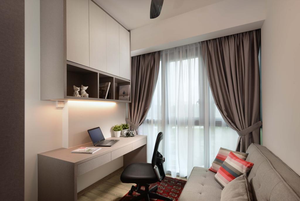 Contemporary, Condo, Study, Lakeville, Interior Designer, ISH Interior Design, Indoors, Interior Design, Room, Door, Sliding Door