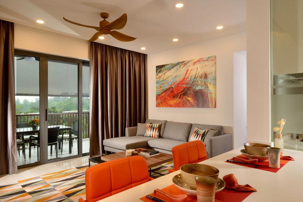 Contemporary, Condo, Living Room, Lakeville, Interior Designer, ISH Interior Design, Couch, Furniture, Balcony, Dining Room, Indoors, Interior Design, Room