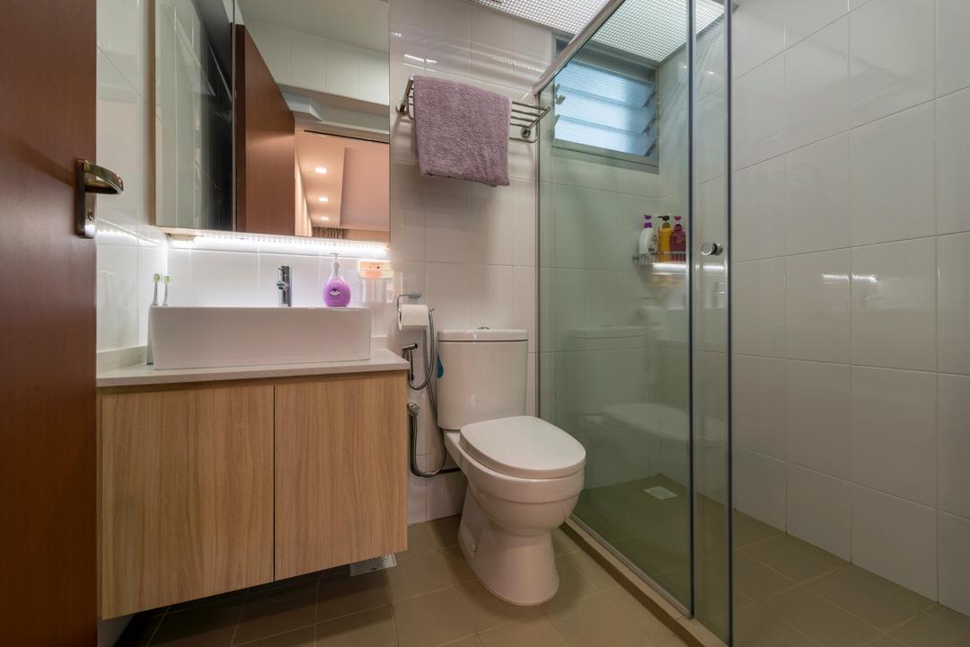 Canberra Crescent, Project Guru, Scandinavian, Bathroom, HDB, Toilet, Indoors, Interior Design, Room, Siding