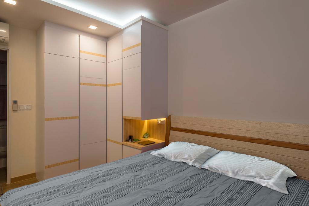 Scandinavian, HDB, Canberra Crescent, Interior Designer, Project Guru, Bed, Furniture, Bedroom, Indoors, Interior Design, Room