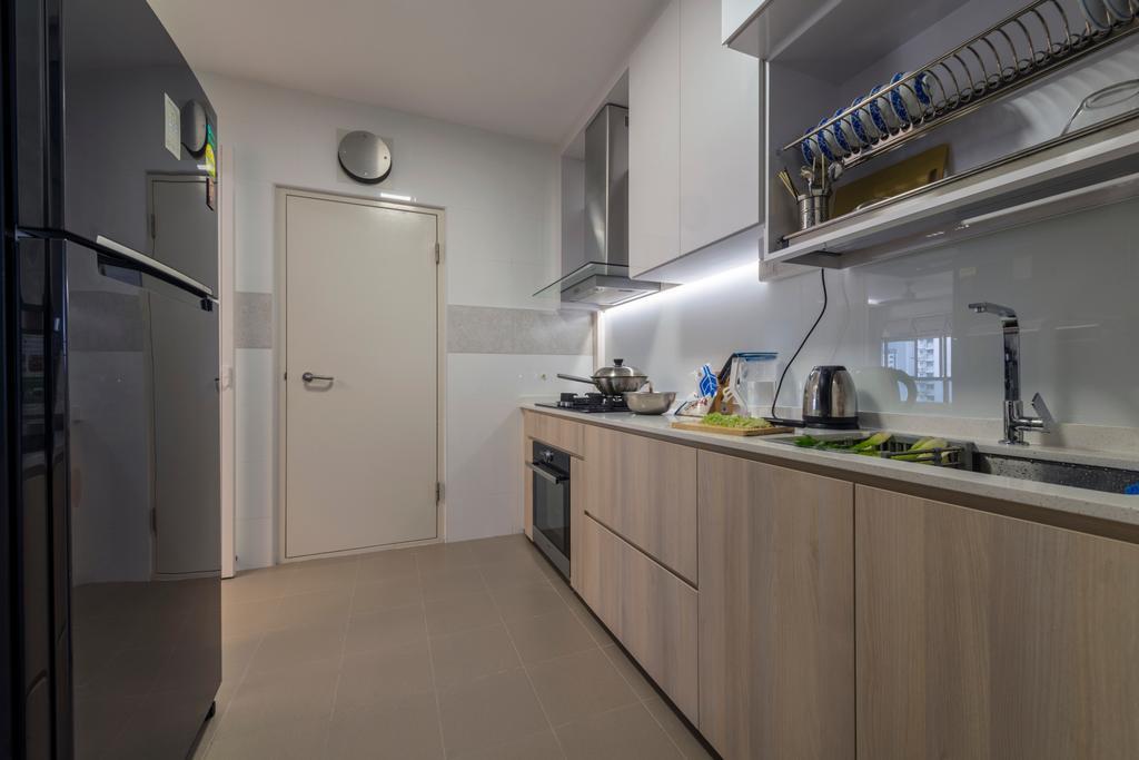 Scandinavian, HDB, Kitchen, Canberra Crescent, Interior Designer, Project Guru