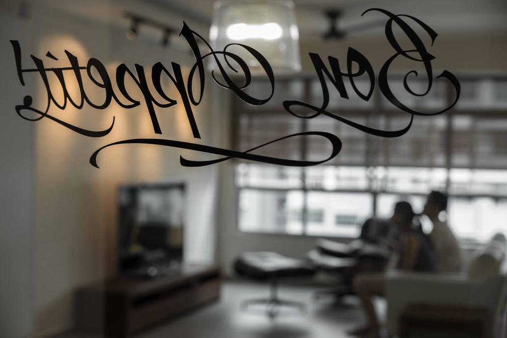 Contemporary, HDB, Living Room, Punggol Place, Interior Designer, Schemacraft, Glass Sticket, Automobile, Car, Transportation, Vehicle, Logo, Trademark, Cafe, Restaurant