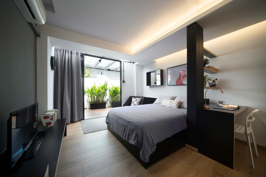 Modern, Landed, Bedroom, Joo Chiat, Interior Designer, The Design Abode, Flora, Jar, Plant, Potted Plant, Pottery, Vase, Indoors, Interior Design, Room