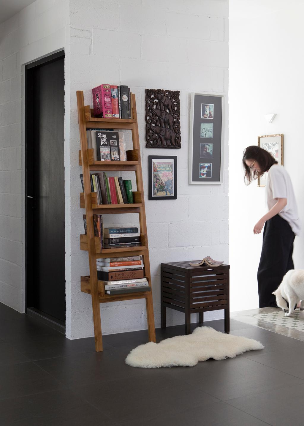 Modern, Landed, Living Room, Joo Chiat, Interior Designer, The Design Abode, Human, People, Person, Bookcase, Furniture, Shelf