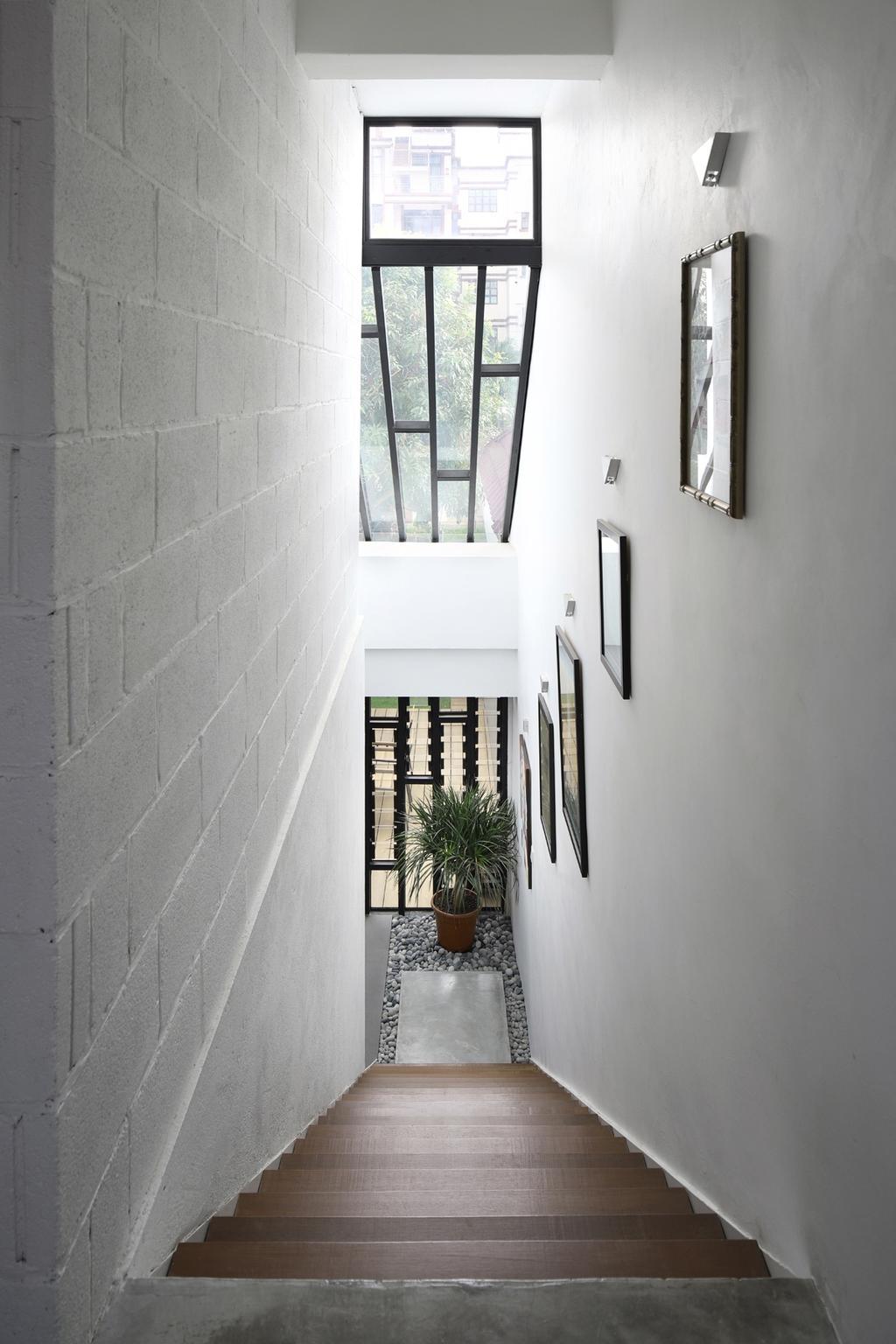 Modern, Landed, Joo Chiat, Interior Designer, The Design Abode, Flora, Jar, Plant, Potted Plant, Pottery, Vase, Corridor