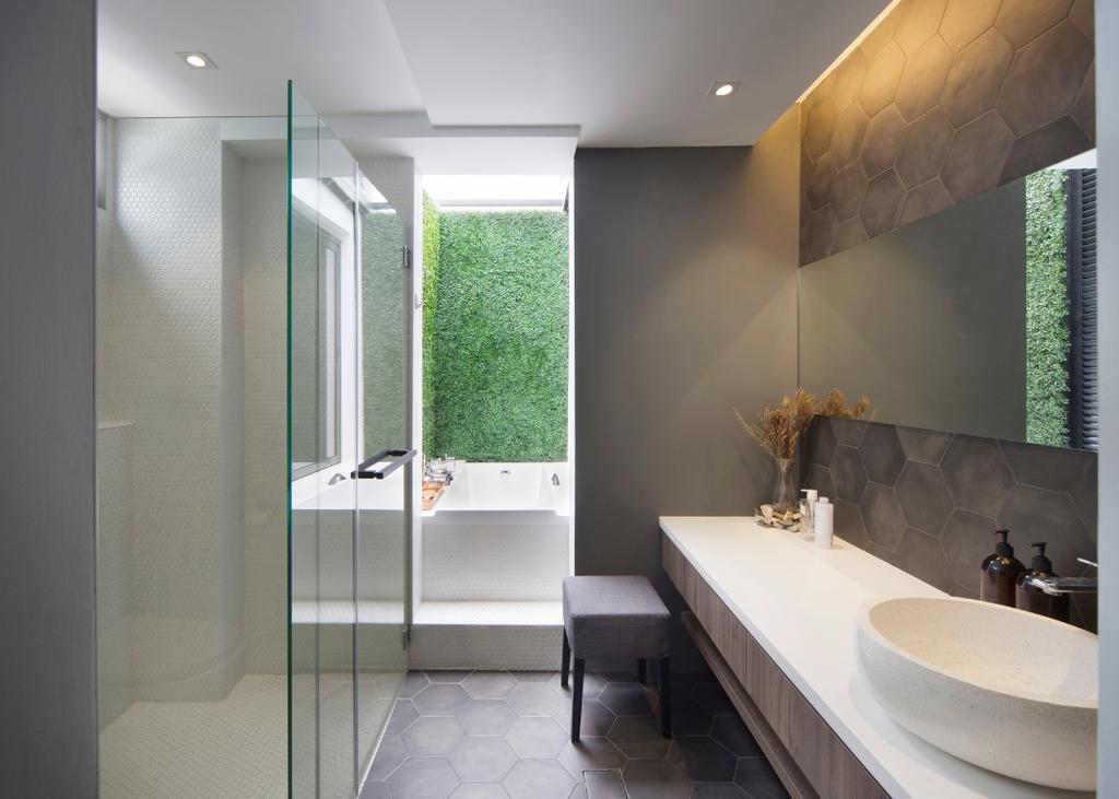 Modern, Landed, Bathroom, Joo Chiat, Interior Designer, The Design Abode, Indoors, Interior Design, Room