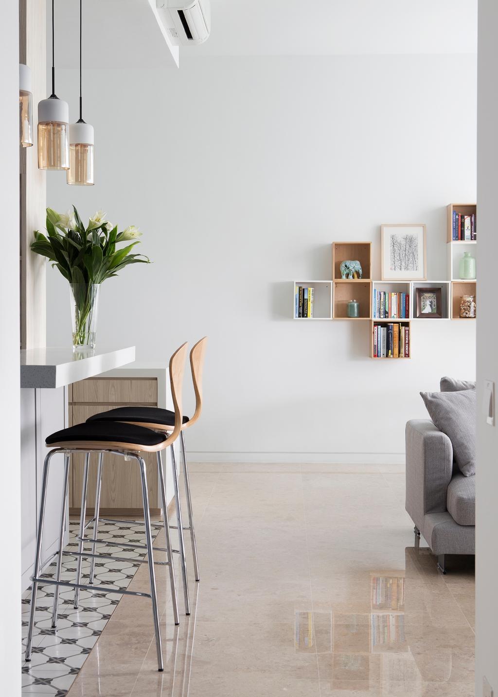 Contemporary, Condo, Living Room, Tanjong Katong Road, Interior Designer, The Design Abode, Chair, Furniture, Bar Stool, Gazebo