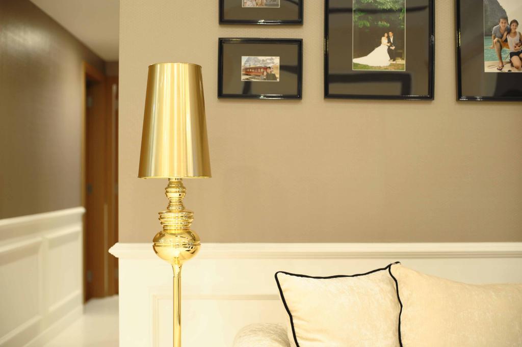 Vintage, Condo, Living Room, Vista Residences, Interior Designer, Schemacraft, Lamp, Sofa