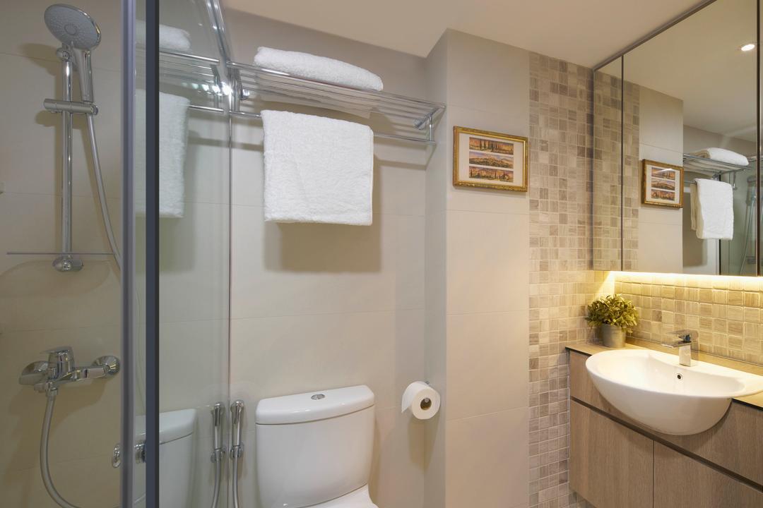 Mandalay Road, LLARK Architects, Scandinavian, Minimalistic, Bathroom, Condo, Indoors, Interior Design, Room, Shower, Molding