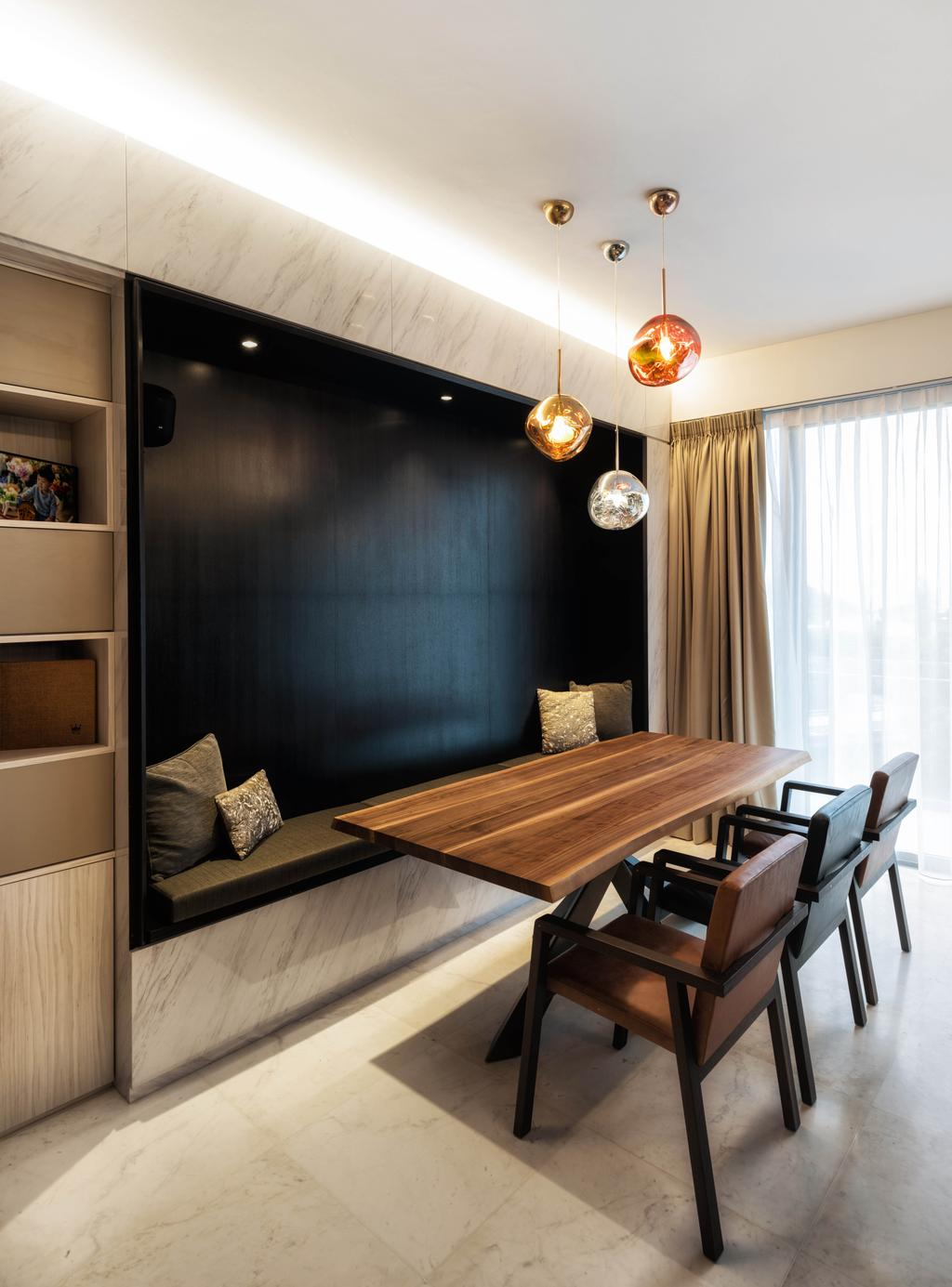 Modern, Condo, Dining Room, Meyer Road, Architect, LLARK Architects, Wood, Dining Table, Furniture, Table