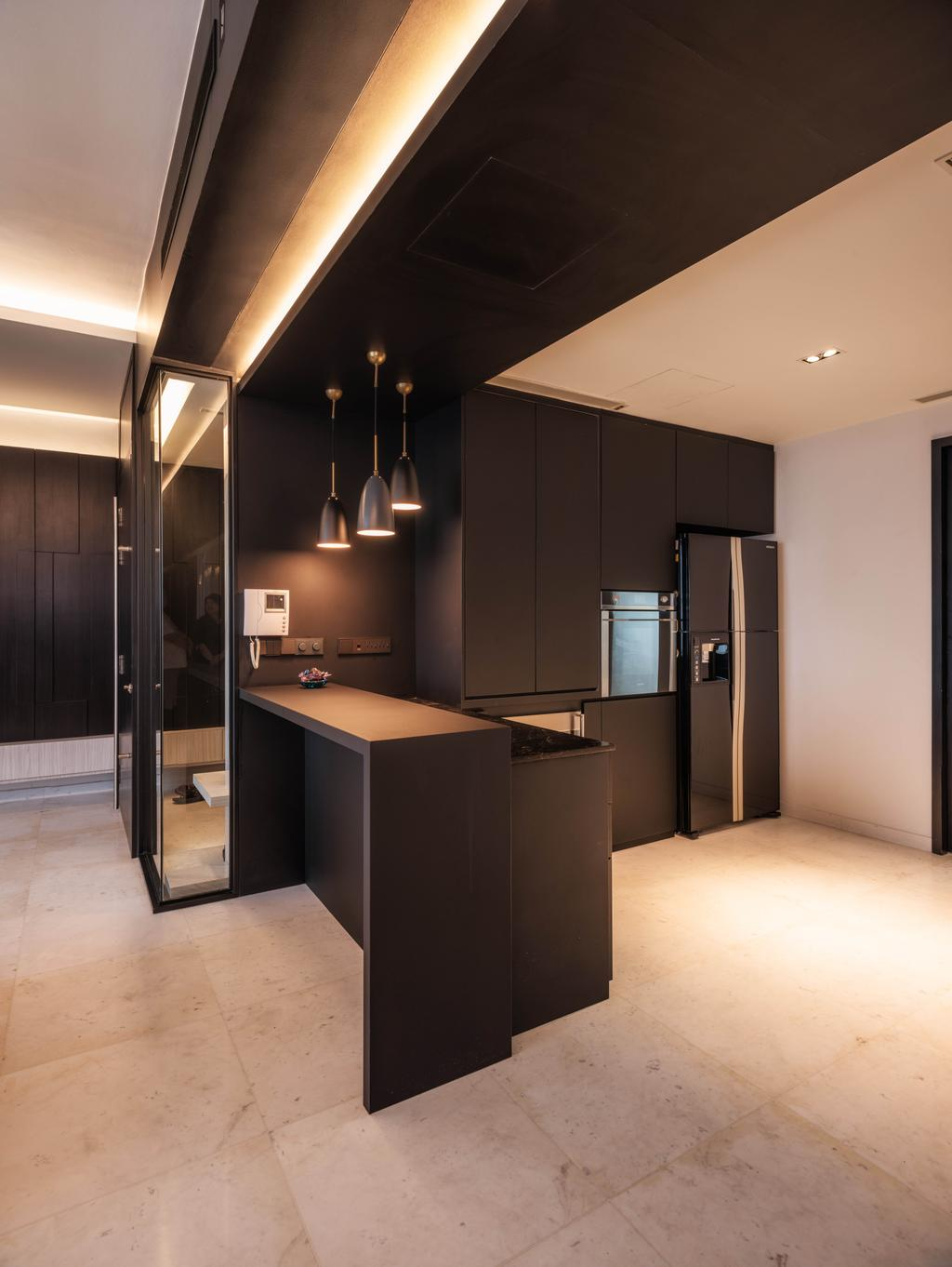 Modern, Condo, Kitchen, Meyer Road, Architect, LLARK Architects