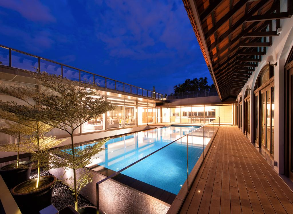 Modern, Landed, Queen Astrid Park, Architect, LLARK Architects, Pool, Water, Deck, Porch, Building, Hotel, Resort, Swimming Pool