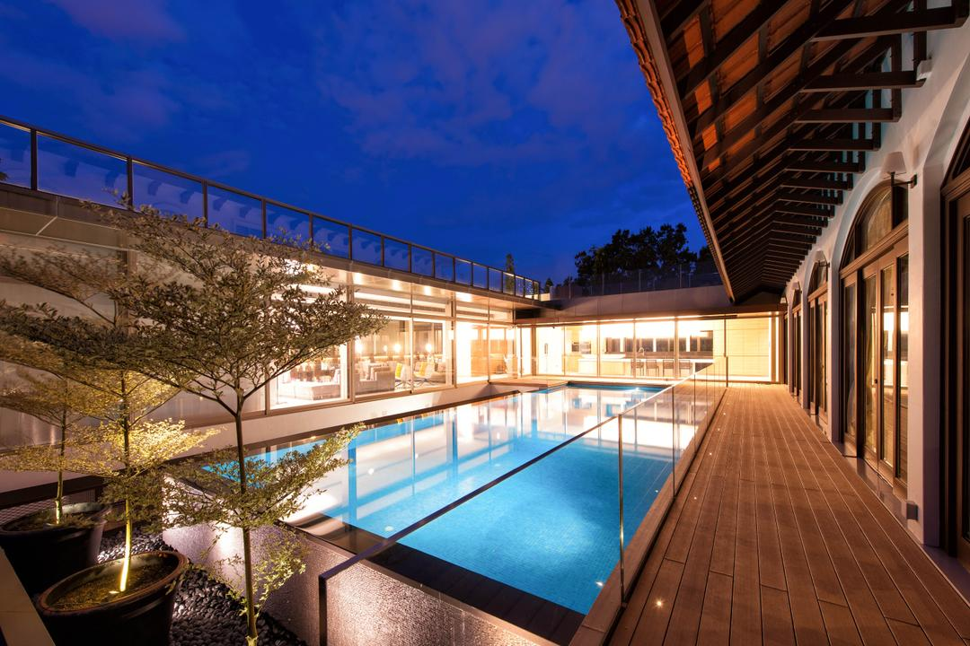 Queen Astrid Park, LLARK Architects, Modern, Landed, Pool, Water, Deck, Porch, Building, Hotel, Resort, Swimming Pool