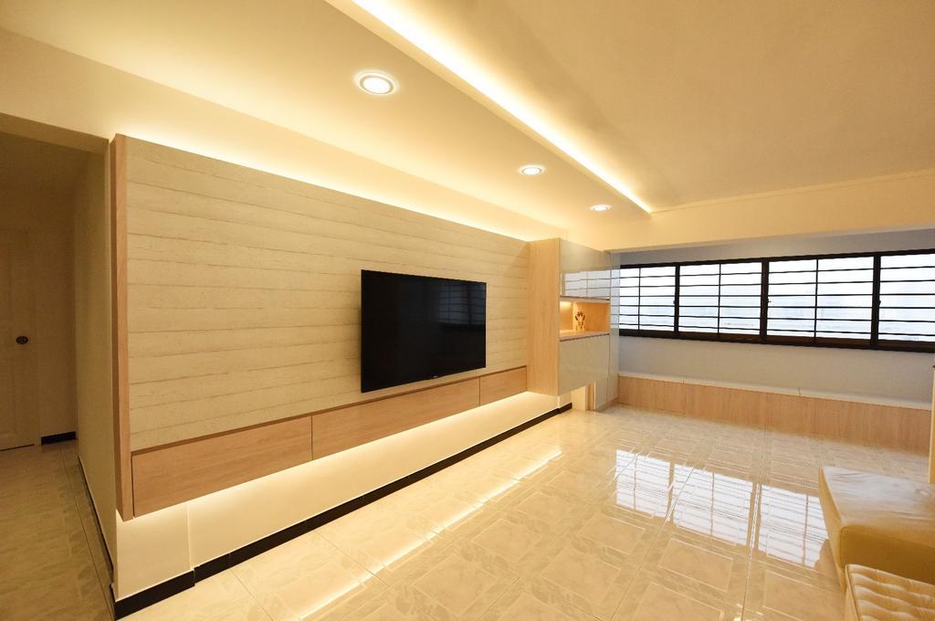 Scandinavian, HDB, Living Room, Eunos Crescent, Interior Designer, Starry Homestead, Couch, Furniture