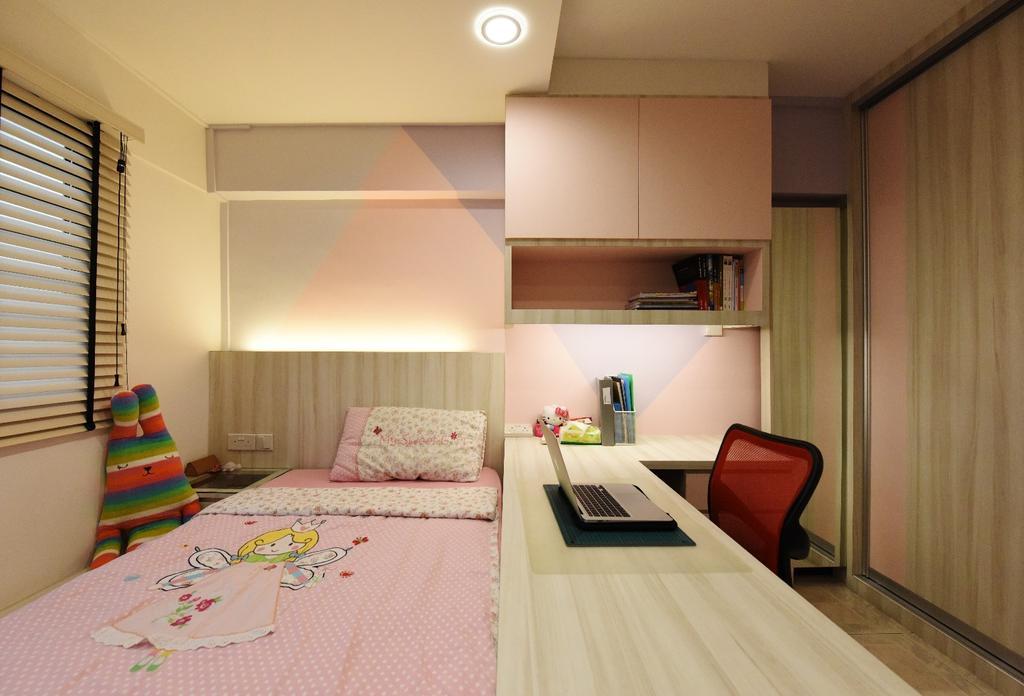 Scandinavian, HDB, Bedroom, Eunos Crescent, Interior Designer, Starry Homestead, Indoors, Interior Design, Room