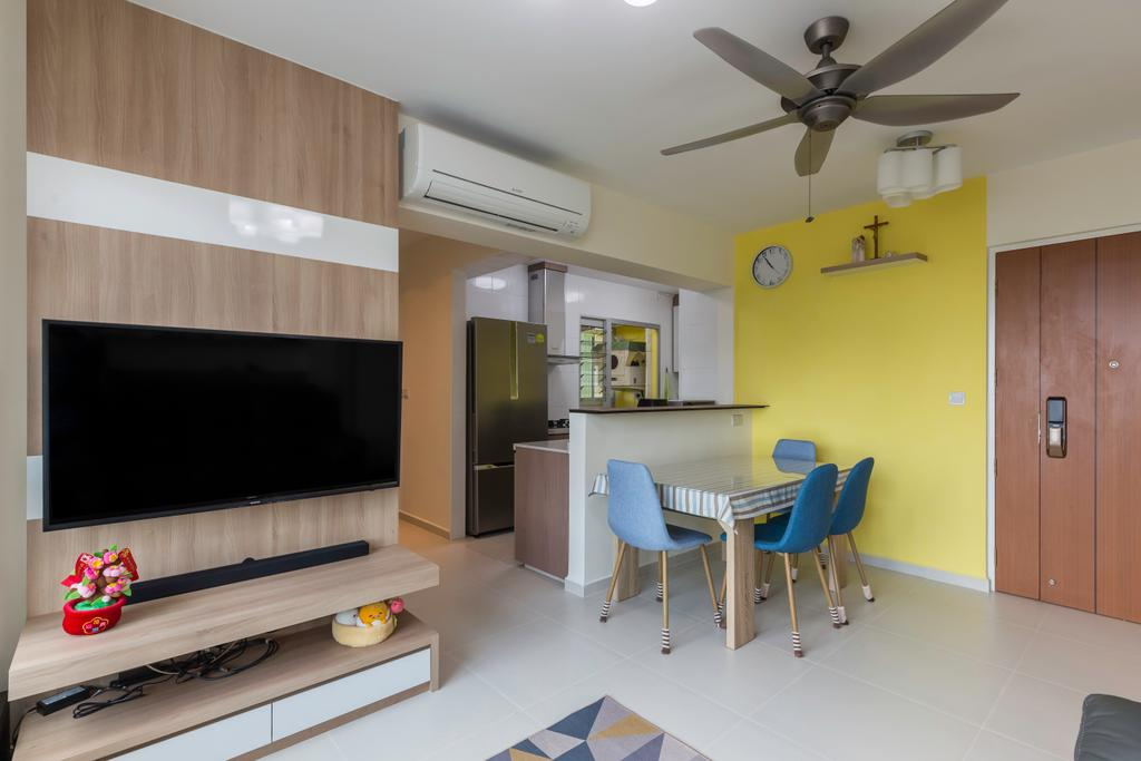 Contemporary, HDB, Dining Room, Clementi Avenue 4, Interior Designer, Starry Homestead, Chair, Furniture, Building, Housing, Indoors, Dining Table, Table, Blackboard