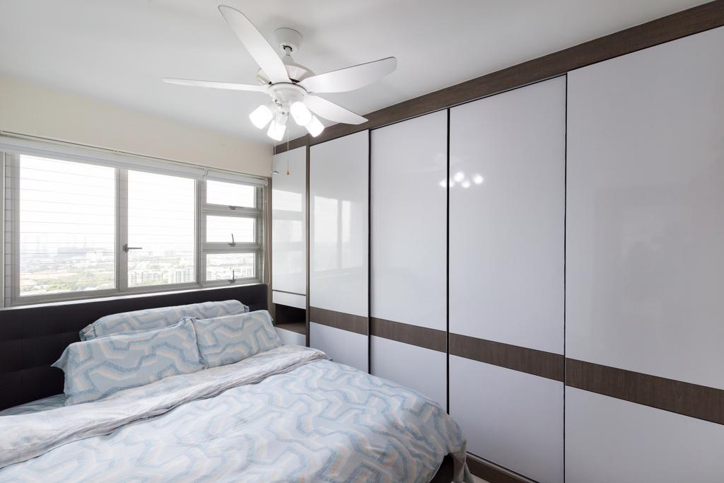Contemporary, HDB, Bedroom, Clementi Avenue 4, Interior Designer, Starry Homestead, Indoors, Interior Design, Room, Bed, Furniture