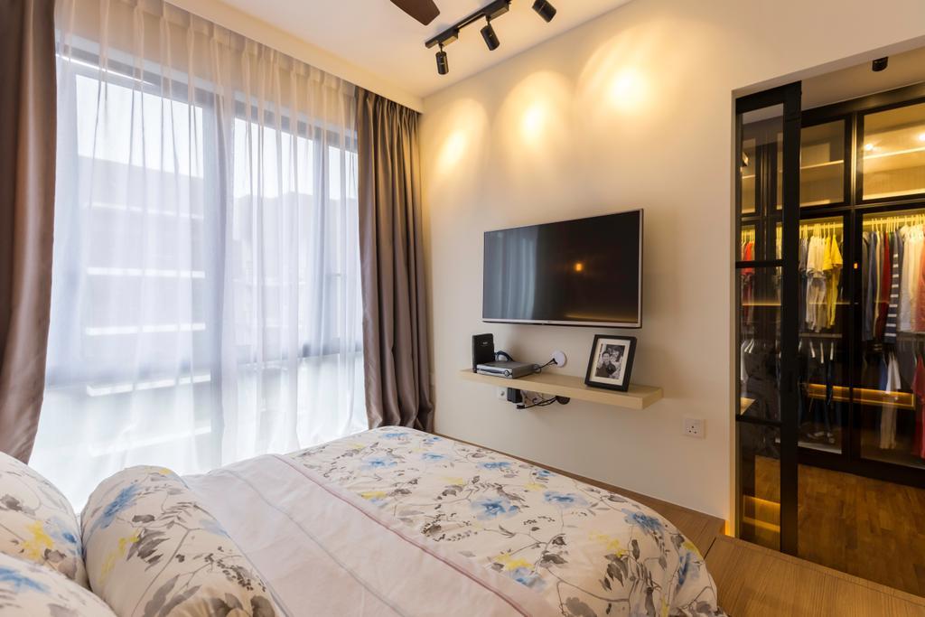 Industrial, Condo, Bedroom, Signature @ Yishun, Interior Designer, Starry Homestead, Contemporary, Bed, Furniture, Indoors, Interior Design, Room