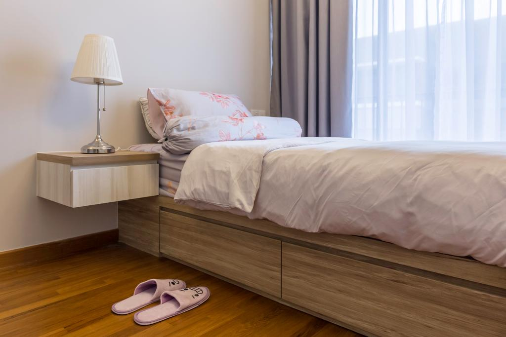 Industrial, Condo, Bedroom, Signature @ Yishun, Interior Designer, Starry Homestead, Contemporary, Bed, Furniture, Sideboard