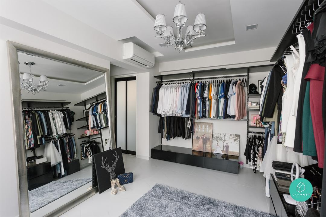 Walk-in wardrobe ideas for small hdb homes & How to Fit a Walk-in Wardrobe (in Your Tiny HDB) | Qanvast