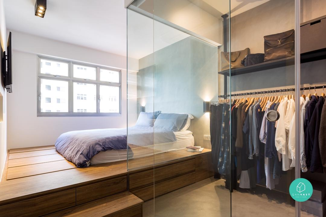 ... Walk-in wardrobe ideas for small hdb homes & How to Fit a Walk-in Wardrobe (in Your Tiny HDB) | Qanvast