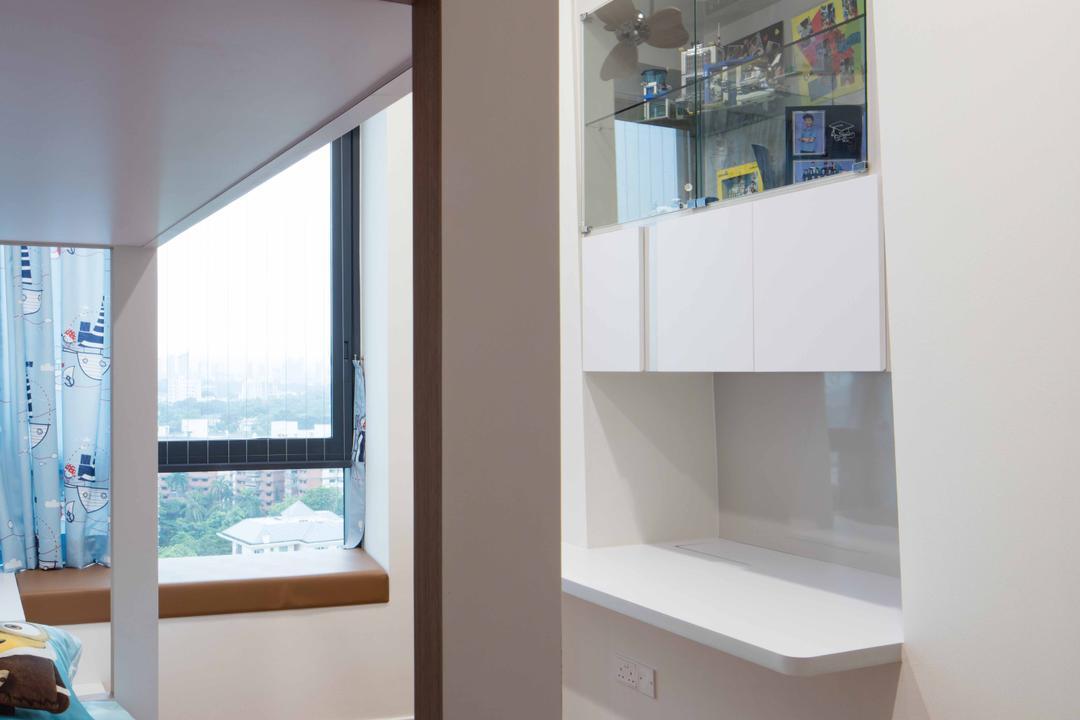 D'Leedon, Schemacraft, Minimalistic, Bedroom, Condo, Double Decker Bed, Cabinets, Parquet
