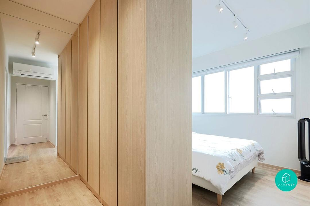 Walk-in wardrobe ideas for small hdb homes