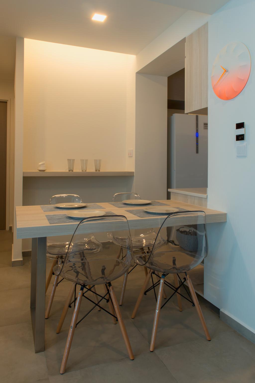 Scandinavian, HDB, Dining Room, Edgedale Plains, Interior Designer, Dyel Design, Dining Table, Furniture, Table