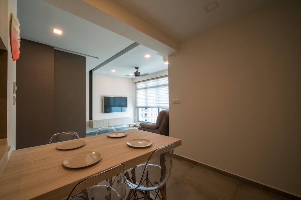 Scandinavian, HDB, Dining Room, Edgedale Plains, Interior Designer, Dyel Design, Dining Table, Furniture, Table, Indoors, Interior Design, Room, Building, Housing