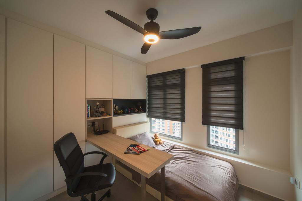 Scandinavian, HDB, Study, Edgedale Plains, Interior Designer, Dyel Design, Chair, Furniture, Bedroom, Indoors, Interior Design, Room