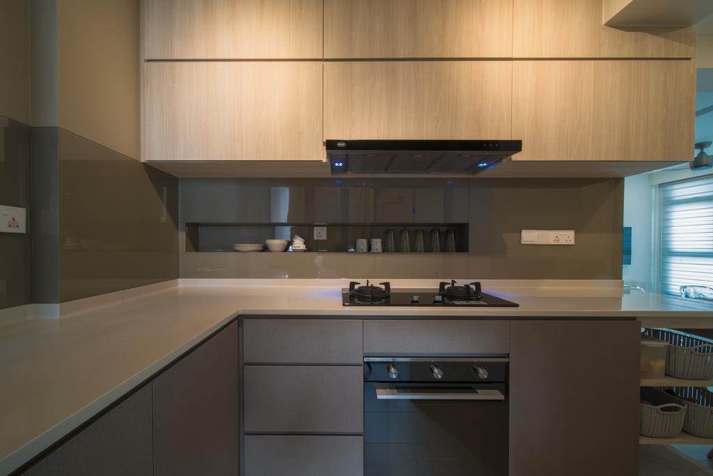 Scandinavian, HDB, Kitchen, Edgedale Plains, Interior Designer, Dyel Design, Appliance, Electrical Device, Oven, Indoors, Interior Design, Room