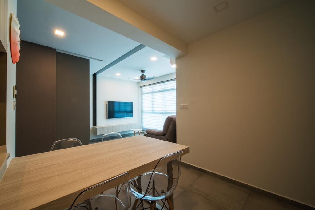 Scandinavian, HDB, Dining Room, Edgedale Plains, Interior Designer, Dyel Design, Indoors, Interior Design, Room, Dining Table, Furniture, Table, Plywood, Wood, Chair, Building, Housing, Conference Room, Meeting Room