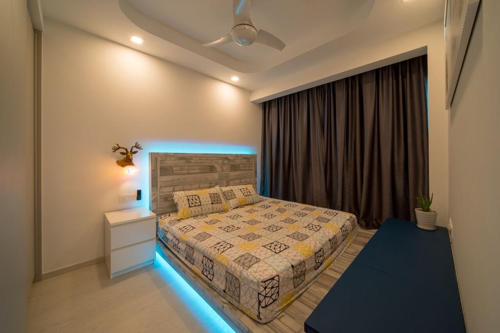 Modern, Condo, Bedroom, The Terrace, Interior Designer, Dyel Design, Curtain, Home Decor, Indoors, Room, Bed, Furniture, Interior Design