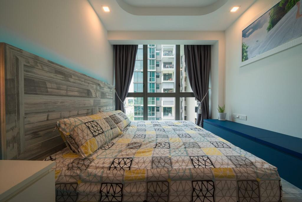 Modern, Condo, Bedroom, The Terrace, Interior Designer, Dyel Design, Curtain, Home Decor, Indoors, Interior Design, Room, Bed, Furniture