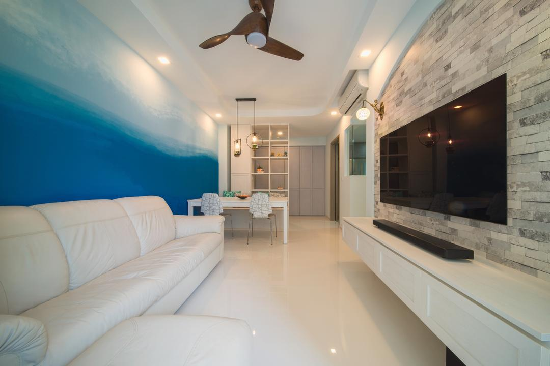The Terrace, Dyel Design, Modern, Living Room, Condo, Propeller, Indoors, Interior Design, Couch, Furniture, Corridor
