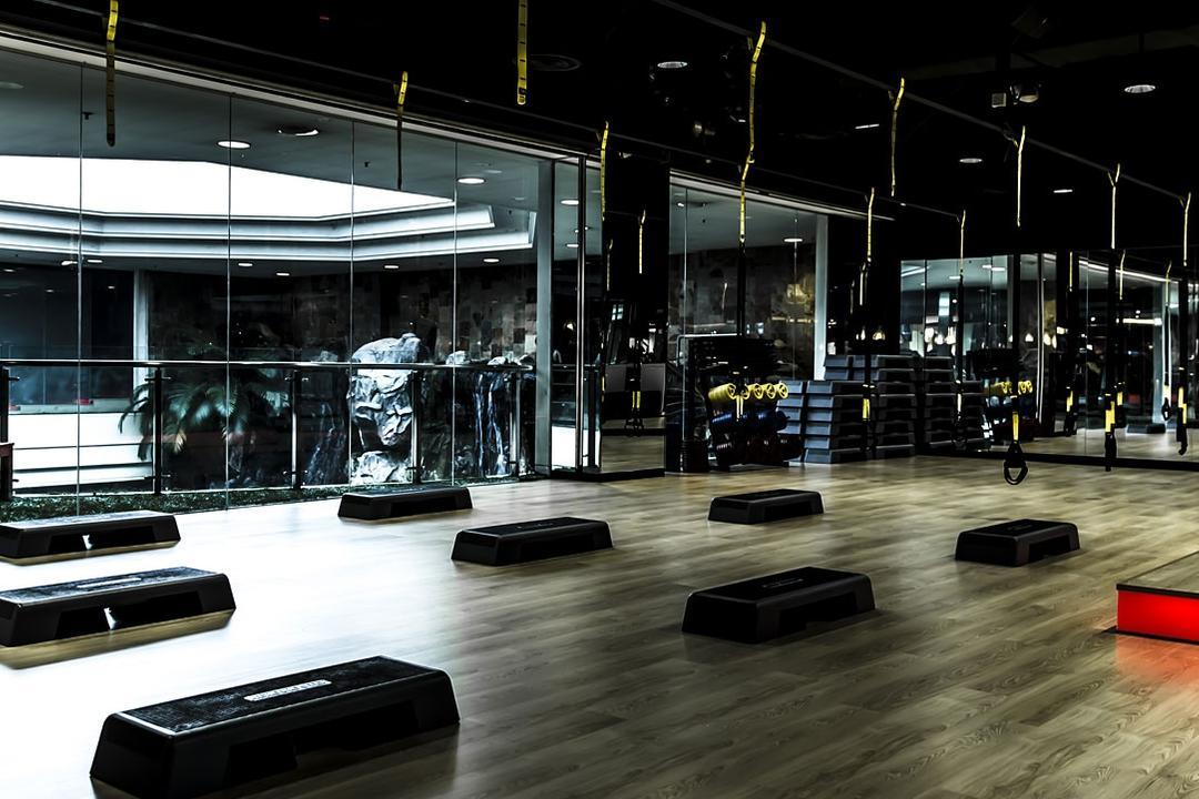Peak Fitness @ SOGO, Mega Fusion Design Studio, Industrial, Commercial, Coffee Table, Furniture, Table, Parking, Parking Lot