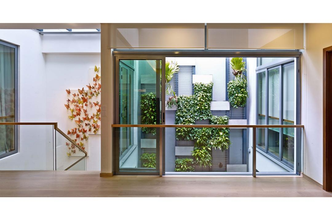 26 Dyson Road, TENarchitects, Contemporary, Landed, Upper Storey, Upper Level, Deck, Window, Flora, Jar, Plant, Planter, Potted Plant, Pottery, Vase, Door, Folding Door, Blossom, Flower, Flower Arrangement, Ornament, Balcony