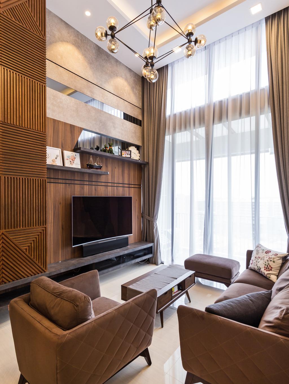 Contemporary, Condo, Living Room, Bellewaters, Interior Designer, D Initial Concept, Chair, Furniture, Indoors, Interior Design