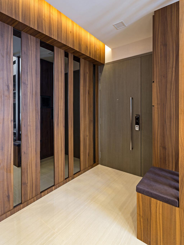 Contemporary, Condo, Living Room, Bellewaters, Interior Designer, D Initial Concept, Door, Folding Door