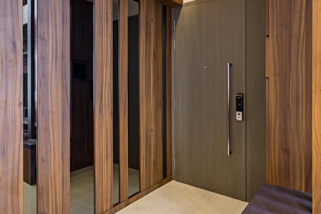 Bellewaters, D Initial Concept, Contemporary, Living Room, Condo, Door, Folding Door